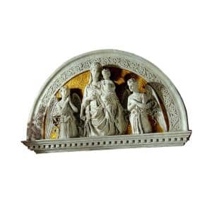 24 in. x 40 in. Blessed Union Renaissance Arch Sculptural Lunetta Wall Frieze