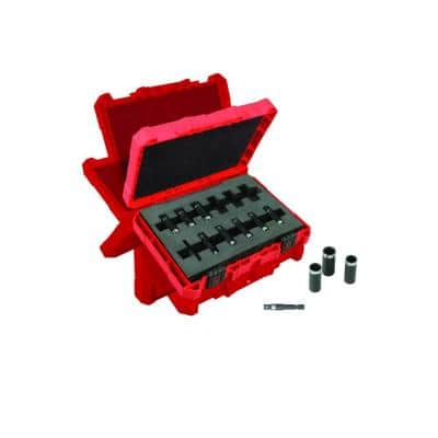 SHOCKWAVE Impact Duty 1/4 in. Drive Metric Deep Well Socket Set (12-Piece)