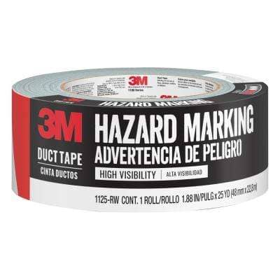1.88 in. x 25 yds. Red/White Hazard Marking Duct Tape (Case of 12)