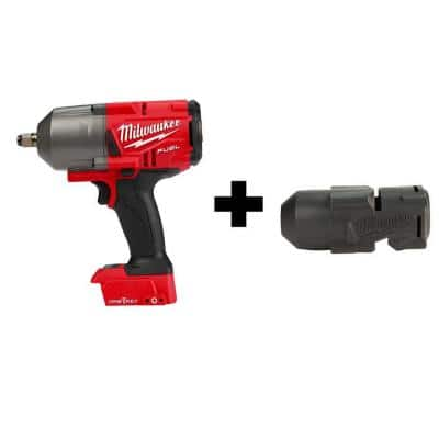 M18 FUEL ONE-KEY 18-Volt Lithium-Ion Brushless Cordless 1/2 in. Impact Wrench with Friction Ring With Protective Boot