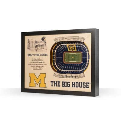 NCAA Michigan Wolverines 25 Layer Stadiumviews 3D Wooden Wall Art