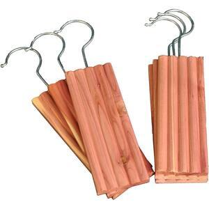 Aromatic Cedar Hangups (18-Piece), 10.00'' (H) x 2.25'' (W) x 0.375'' (D)