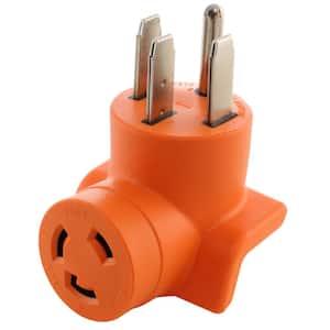 Locking Adapter Generator/ RV/ Range 14-50P Plug to L6-30R 3-Prong 30 Amp 250-Volt Locking Female Adapter