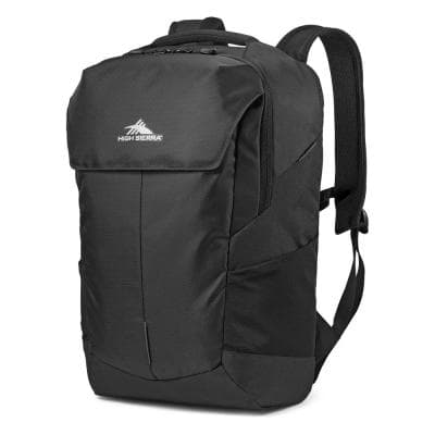 Access Pro Black Backpack with 17-Inch Laptop Sleeve and Reflective Straps
