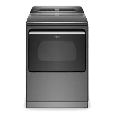 7.4 cu. ft. Smart Chrome Shadow Electric Vented Dryer with Steam, ENERGY STAR