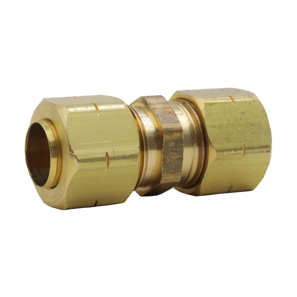 1//2 OD Compression Copper Tube Union Straight Joiner Fitting Air Gas Water
