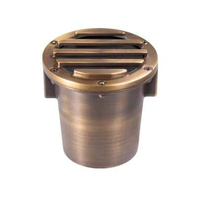 Low Voltage Forged Brass Grated In-Ground Bronze Well Light with 5-Watt LED Bulb