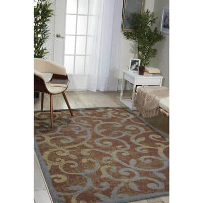 Expressions Multicolor 5 ft. x 7 ft. Trellis Modern Area Rug
