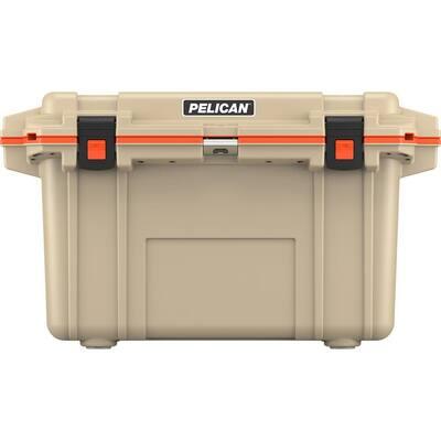 70 Qt. Elite Cooler in Tan and Orange