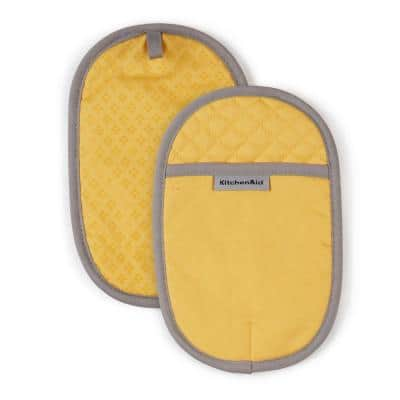 Asteroid Cotton Yellow Pot Holder (2-Pack)