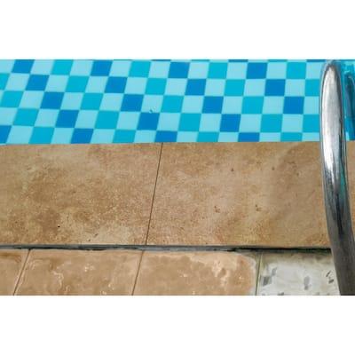 12 in. x 24 in. Mediterranean Walnut Brown Tan Travertine Pool Coping (15-Pieces/30 sq. ft./Pallet)