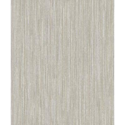 Metallic TextuRed Pinstripe Wallpaper Grey & Gold Paper Strippable Roll (Covers 57 sq. ft.)