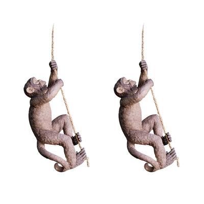 Makokou the Climbing Monkey Sculpture Set (2-Piece)