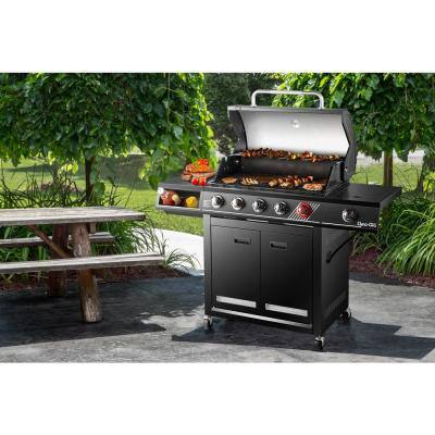 5-Burner Propane Gas Grill in Matte Black with TriVantage Multifunctional Cooking System