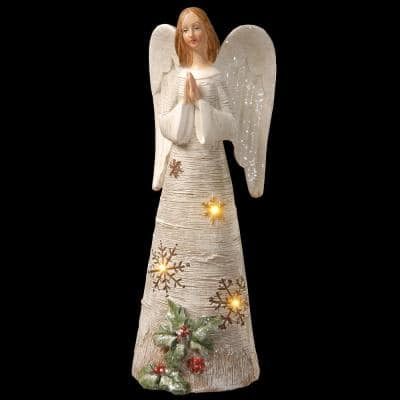 11.6 in. Polyresin Angel with LED Lights