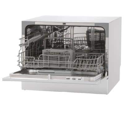 18 in. Silver Digital CounterTop Control 120-volt Dishwasher with 6-Cycles, 6 Place Settings Capacity