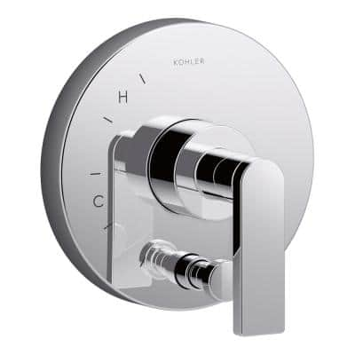 Composed 1-Handle rite-temp Pressure Balancing Valve Trim Kit in Polished Chrome (Valve Not Included)