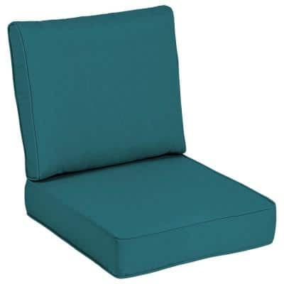 24 x 24 Sunbrella Spectrum Peacock Outdoor Lounge Chair Cushion
