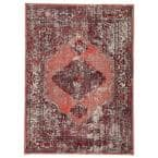 Peridot Red 4 ft. x 5 ft. 8 in. Medallion Rectangle Rug