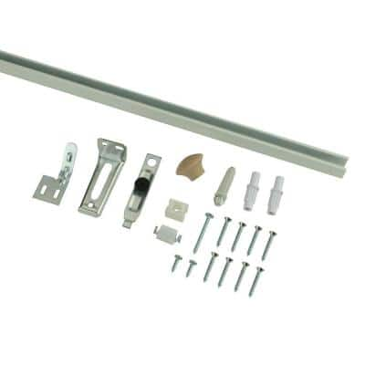 36 in. Bi-Fold Door Hardware Set with White Track