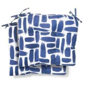 19 in. x 18 in. x 4.5 in. Baja Nautical Tufted Outdoor Seat Cushion (2 Pack)