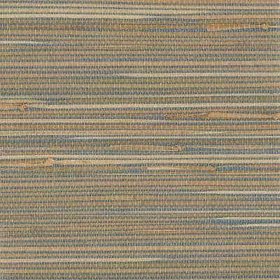 Jissai Mariner Blue Grasscloth Mariner Blue Wallpaper Sample