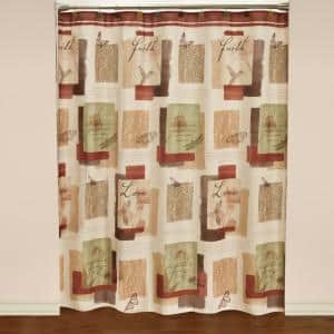 Inspire 72 in. Multicolored Polyester Shower Curtain