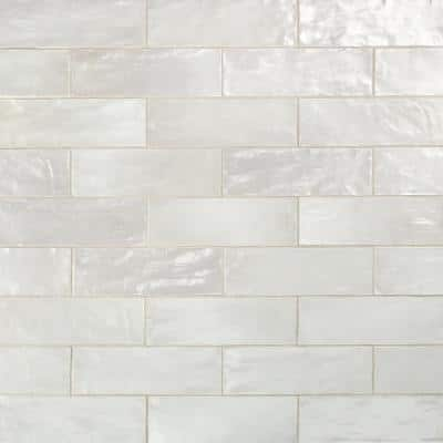 Amagansett 2 in. x 8 in. 9 mm Satin Ceramic Wall Tile (5.38 sq. ft. / box)