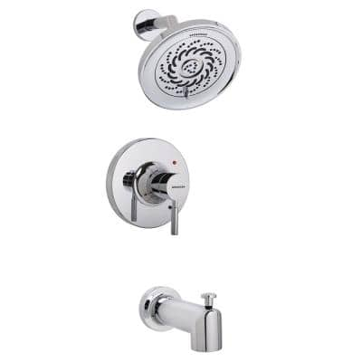 Neo 1-Handle Tub Shower Universal Trim Kit in Polished Chrome with Exhilaration Showerhead (Valve Not Included)
