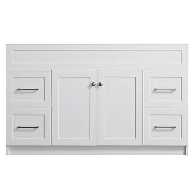 Hamlet 54 in. W x 21.5 in. D x 33.5 in. H Bath Vanity Cabinet Only in White