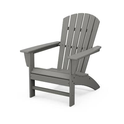 Grant ParkTraditional Curveback Gray Plastic Outdoor Patio Adirondack Chair