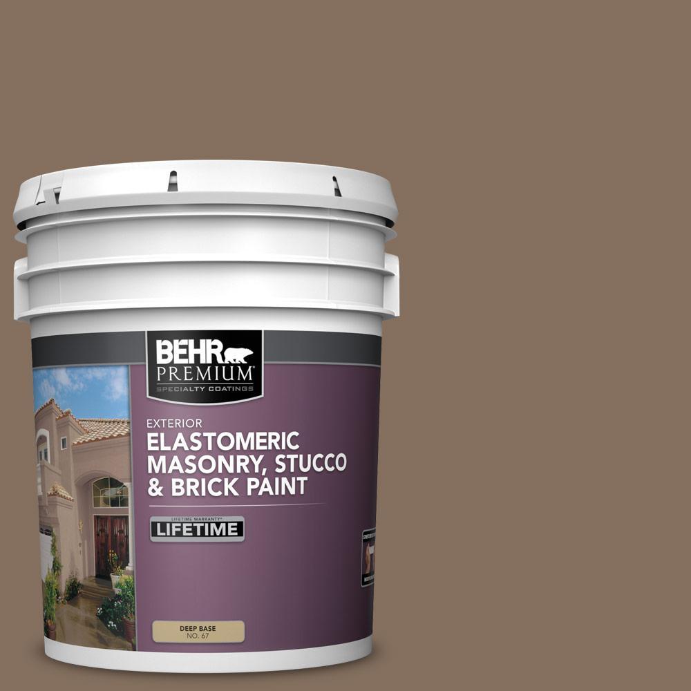 5 gal. #N230-6 Whiskey Barrel Elastomeric Masonry, Stucco and Brick Exterior Paint