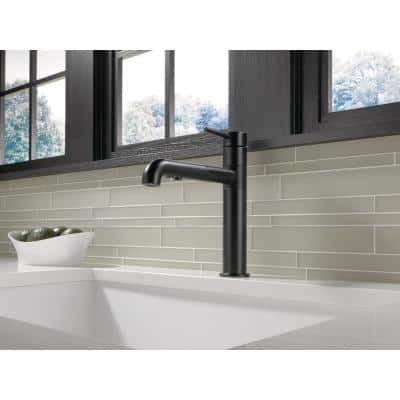 Trinsic Single-Handle Pull-Out Sprayer Kitchen Faucet In Matte Black