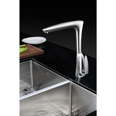 Timbre Series Single-Handle Standard Kitchen Faucet in Brushed Nickel