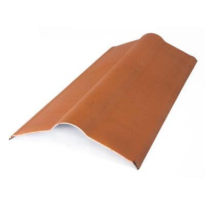 3 ft. x 19.5 in. Terracotta Composite Asphalt Roof Panel Standard Ridge Cap