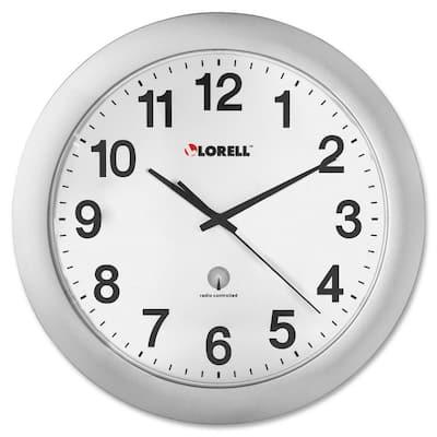 12 in. Plastic Silver Wall Clock