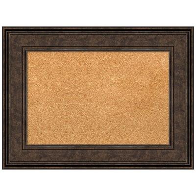 Ridge Bronze 23.62 in. x 17.62 in. Framed Corkboard Memo Board