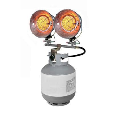Double Burner 30,000 BTU Radiant Tank Top Propane Portable Heater