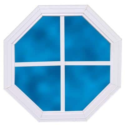 14 in. x 14 in. Decorative Octagonal Window