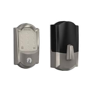 Camelot Encode Smart Wifi Door Lock with Alarm in Satin Nickel