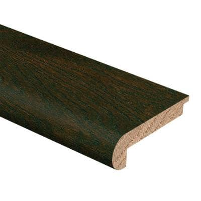 Oak Coffee 3/8 in. Thick x 2-3/4 in. Wide x 94 in. Length Hardwood Stair Nose Molding Flush