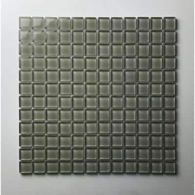 Metro Jade Green Square Mosaic 1 in. x 1 in. Glossy Glass Wall and Pool Tile (10.78 sq. ft./Case)