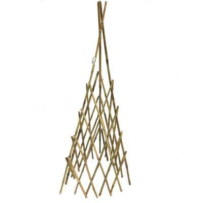 60 in. H Natural Bamboo Poles Teepee