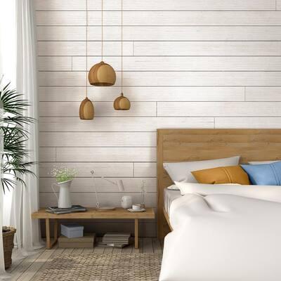 1 in. x 6 in. x 6 ft. Barn Wood White Shiplap Pine Board (6-Pack)