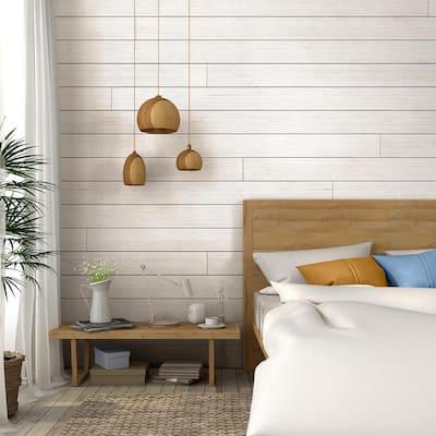 1 in. x 6 in. x 8 ft. Barn Wood White Shiplap Pine Board (6-Pack)
