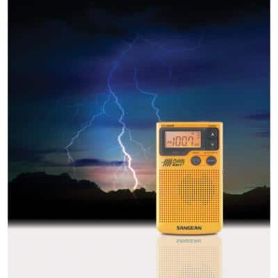 AM/FM Digital Weather Alert Pocket Radio