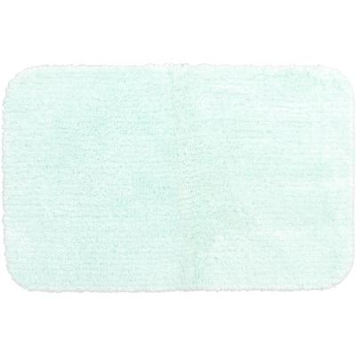Duo Mint 17 in. x 24 in. Nylon Machine Washable Bath Mat