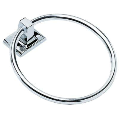 Millbridge Wall-Mounted Towel Ring for Bathroom, Polished Chrome