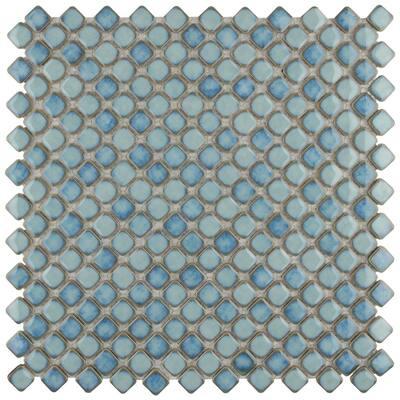 Hudson Diamond Marine 12 in. x 12 in. Porcelain Mosaic Tile (10.85 sq. ft. / Case)