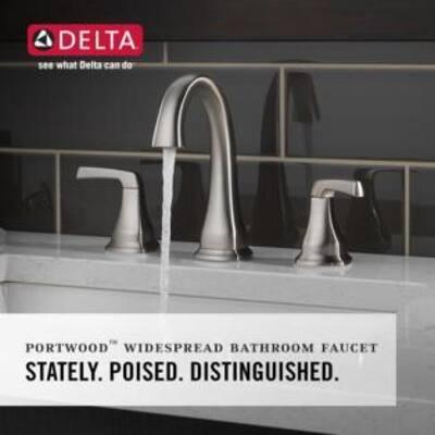 Portwood 8 in. Widespread 2-Handle Bathroom Faucet in SpotShield Brushed Nickel